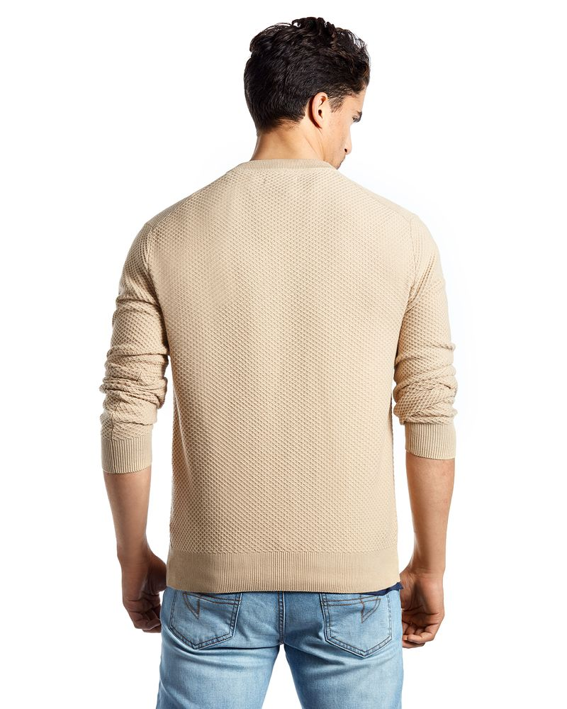 SWEATER CABLE KNIT BEIGE